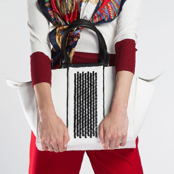 Damentasche, weiß-schwarz, 86-4Y-424-0, Bild 1