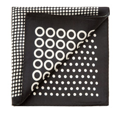 Einstecktuch, weiß-schwarz, 85-7P-X01-X3, Bild 1