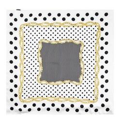 Frauen Halstuch, weiß-schwarz, 86-7D-S14-X01, Bild 1
