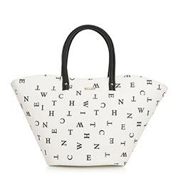 Einkaufstasche, weiß-schwarz, 90-4Y-550-0, Bild 1