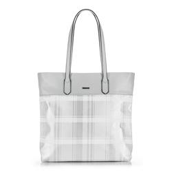 SHOPPER-TASCHE, weiß-silber, 90-4Y-750-0, Bild 1