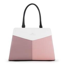 Handtasche, weß-rosa, 90-4E-352-X1, Bild 1