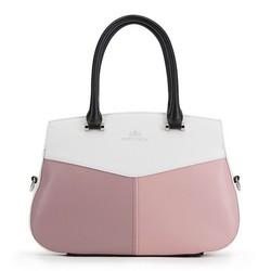 Handtasche, weß-rosa, 90-4E-353-X1, Bild 1