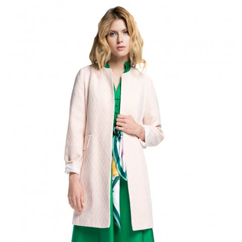 Női kabát, white-pink, 86-9W-105-9-L, Fénykép 1