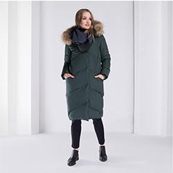 Dámská bunda, zelená, 89-9D-403-Z-XL, Obrázek 1