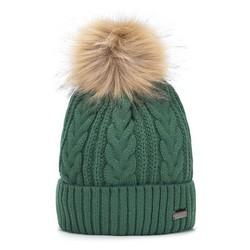 Dámská čepice, zelená, 93-HF-011-Z, Obrázek 1