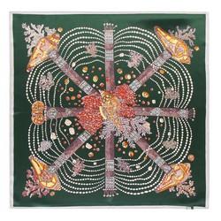 Hedvábný šátek, zelená, 93-7D-S01-20, Obrázek 1