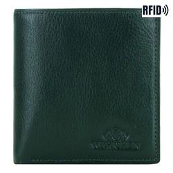 Malá dámská kožená peněženka, zelená, 21-1-065-ZL, Obrázek 1
