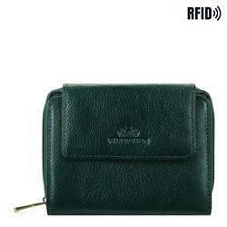 Malá dámská kožená peněženka, zelená, 21-1-211-ZL, Obrázek 1
