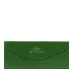 Skládací kožené pouzdro na brýle, zelená, 14-2-196-0, Obrázek 1