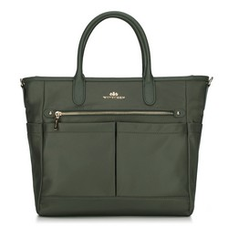 Dámská kabelka, zelená, 88-4E-218-Z, Obrázek 1