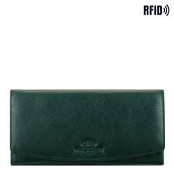 Velká dámská kožená peněženka, zelená, 21-1-234-ZL, Obrázek 1
