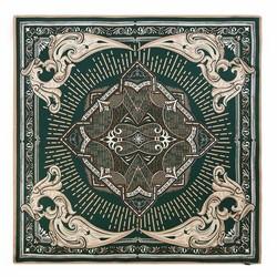 Dámská šála, zeleno-béžová, 90-7D-S22-X6, Obrázek 1