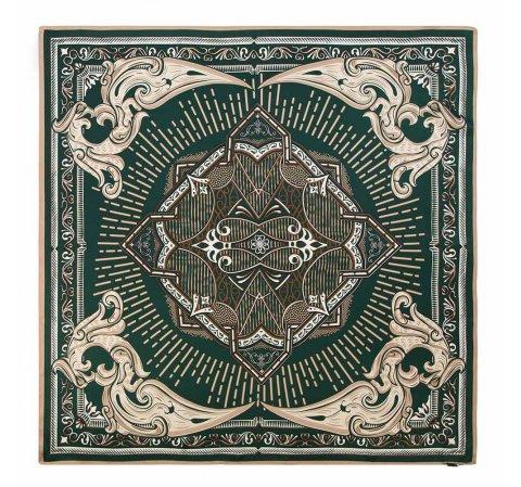 Hedvábný šátek se zlato-zeleným ornamentem