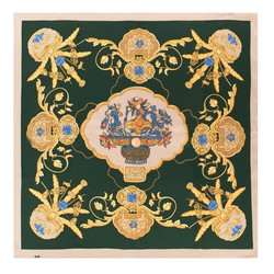 Dámský šátek, zeleno-béžová, 88-7D-S22-X9, Obrázek 1