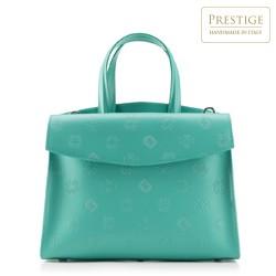 dámská kabelka, zeleno-bílá, 88-4E-003-Z, Obrázek 1