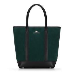 Dámská kabelka, zeleno-černá, 89-4E-405-Z, Obrázek 1