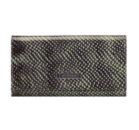 Koženná zelená lakovaná peněženka