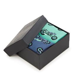 Sada pánských ponožek, zeleno-modrá, 93-SK-001-X1-43/45, Obrázek 1