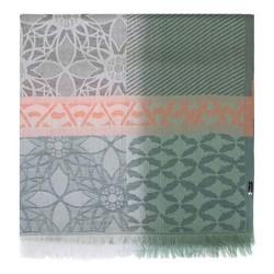 Dámská šála, zeleno-oranžová, 91-7D-X10-Z, Obrázek 1