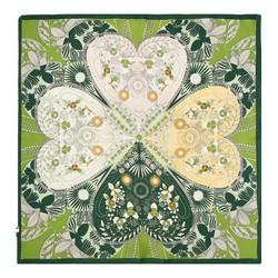 Hedvábný šátek, zeleno-žlutá, 93-7D-S01-9, Obrázek 1