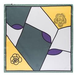 Hedvábný šátek, zeleno-žlutá, 93-7D-S01-53, Obrázek 1