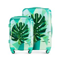 Современный комплект чемоданов из ABS-пластика, зеленый, 56-3A-64S-80, Фотография 1
