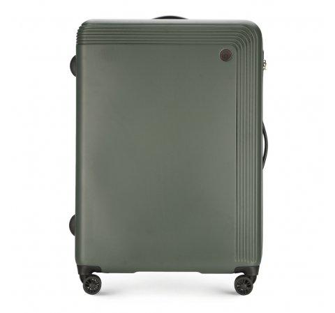 Большой чемодан, зеленый, 56-3A-623-44, Фотография 1