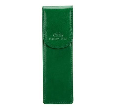 Кожаный футляр для ручек, зеленый, 21-2-169-3, Фотография 1