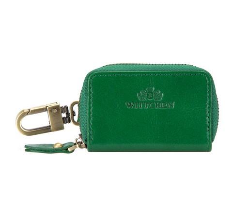 Ключница брелок кожаная, зеленый, 21-2-500-3, Фотография 1