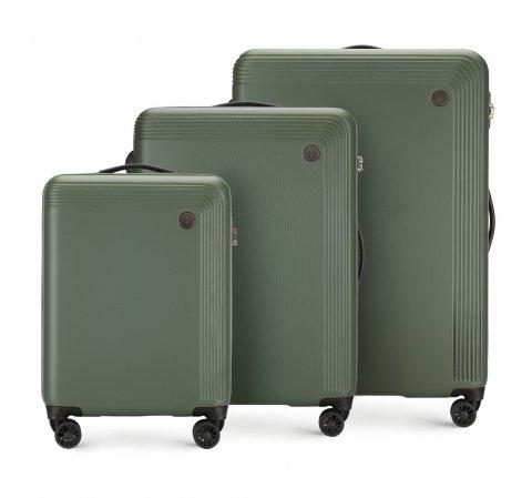 Комплект чемоданов, зеленый, 56-3A-62S-10, Фотография 1