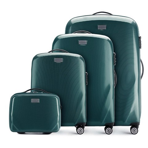 Комплект чемоданов, зеленый, 56-3P-57K-70, Фотография 1