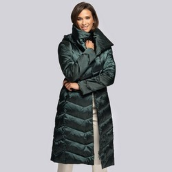 Женское пуховое пальто с капюшоном, зеленый, 93-9D-407-Z-L, Фотография 1