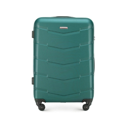 Средний чемодан из ABS пластика, зеленый, 56-3A-402-81, Фотография 1