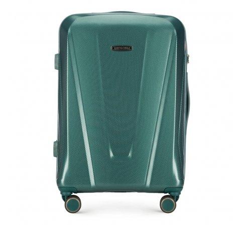 Средний чемодан, зеленый, 56-3P-122-90, Фотография 1