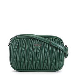 Женская гофрированная сумка через плечо, зеленый, 91-4Y-602-Z, Фотография 1