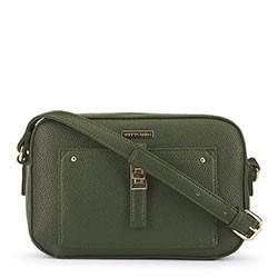 Женская сумка через плечо на тонком ремешке, зеленый, 91-4Y-401-Z, Фотография 1