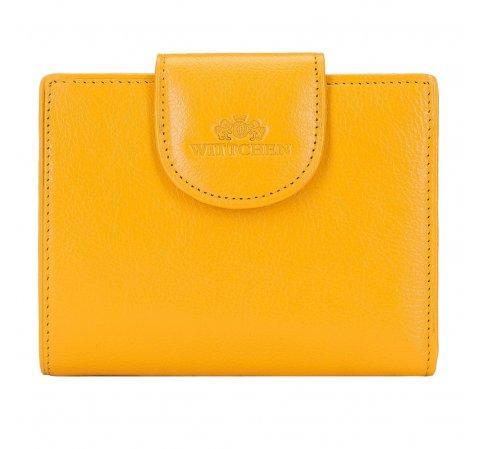 Женский классический кожаный кошелек, желтый, 21-1-362-10L, Фотография 1