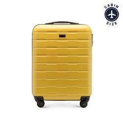 Рифленый чемодан ручная кладь из ABS - пластика, желтый, 56-3A-381-85, Фотография 1