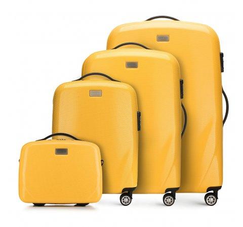 Комплект чемоданов, желтый, 56-3P-57K-90, Фотография 1