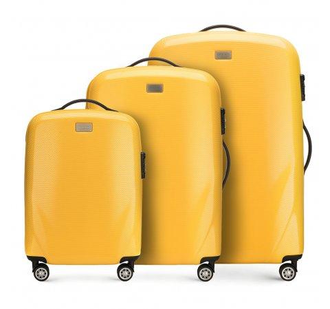 Комплект чемоданов, желтый, 56-3P-57S-70, Фотография 1