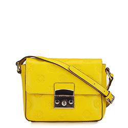 Кожаная сумка с клапаном с монограммой, желтый, 92-4E-693-Y, Фотография 1