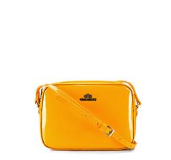 Женская сумка через плечо из лакированной кожи, желтый, 25-4-589-Y, Фотография 1