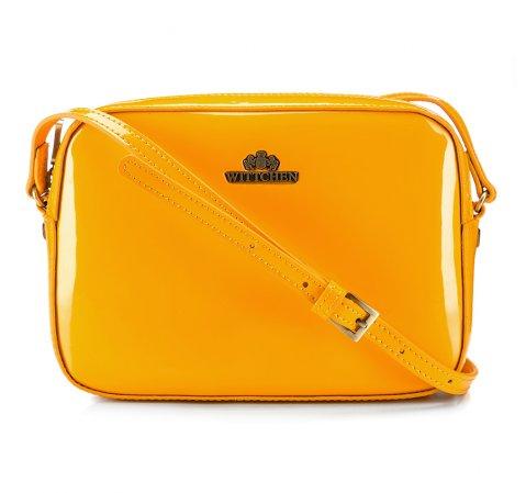 Женская сумка через плечо из лакированной кожи, желтый, 25-4-589-M, Фотография 1