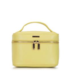 Женская косметичка-сундук маленькая, желтый, 92-3-107-Y, Фотография 1