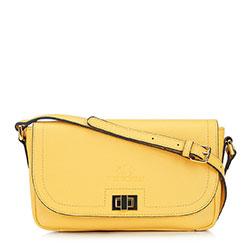 Женская кожаная сумка с клапаном, желтый, 92-4E-632-Y, Фотография 1