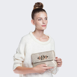 Dámská kabelka, zlatá, 86-4Y-808-G, Obrázek 1