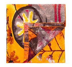 Dámský šátek, žlutá, 84-7D-S23-X02, Obrázek 1