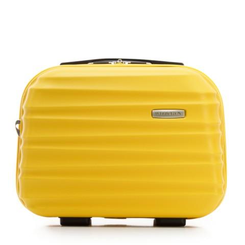 Kožená kosmetická taška na výlety