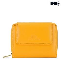 Malá dámská kožená peněženka, žlutá, 21-1-211-YL, Obrázek 1